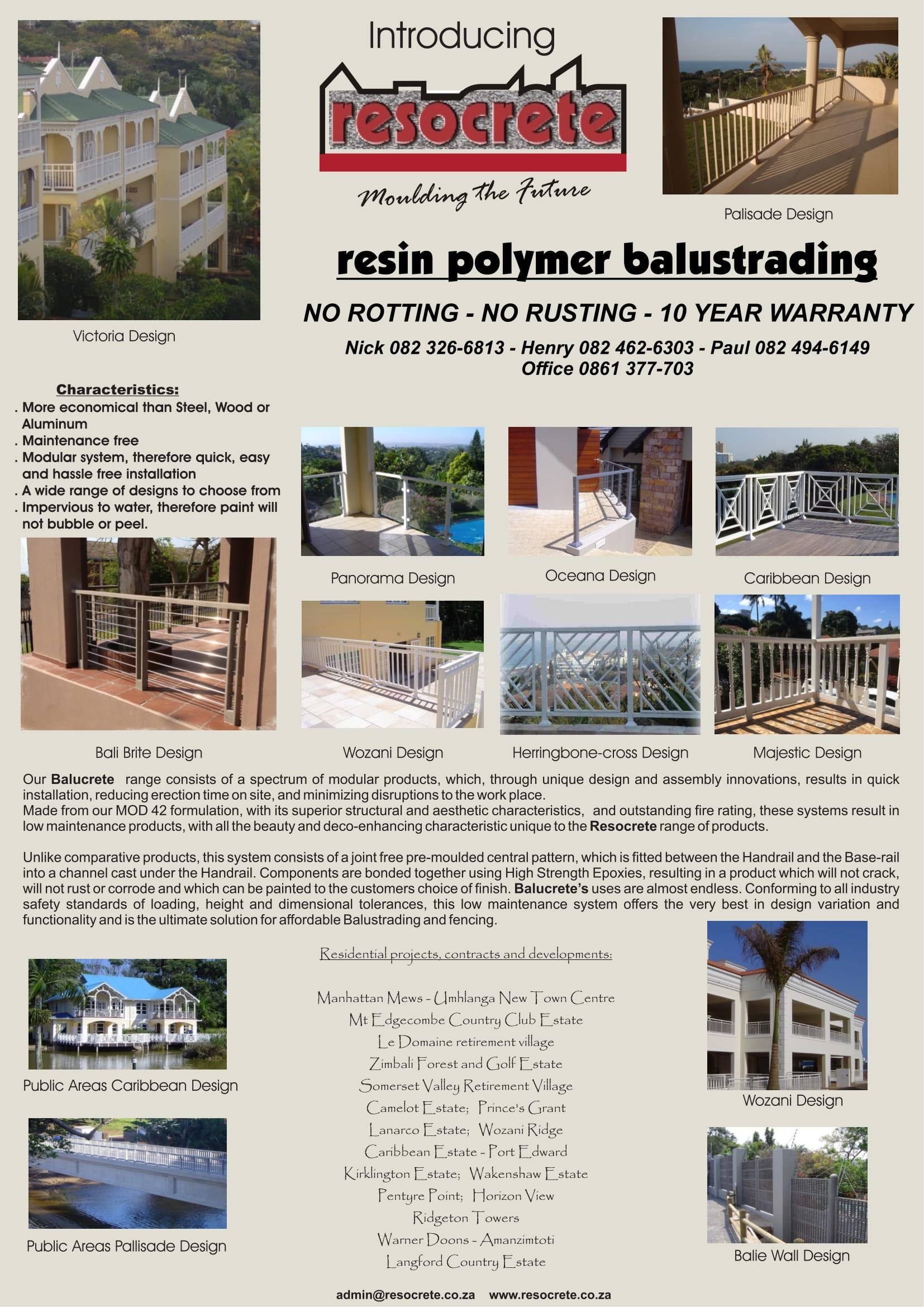 Balucrete Overview – Resocrete